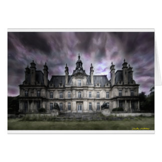 castle ghosts ruin gothic haunted abandoned card