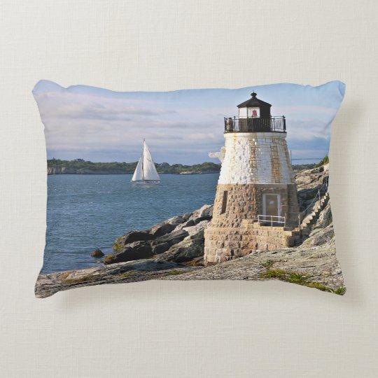 Castle Hill Lighthouse, Rhode Island Accent Pillow