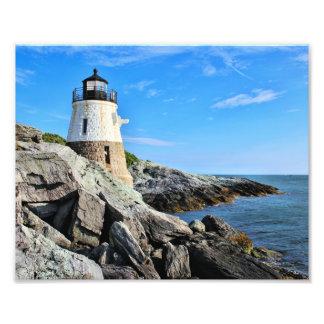 Castle Hill Lighthouse, Rhode Island Art Photo