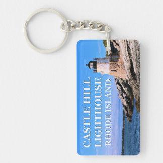 Castle Hill Lighthouse, Rhode Island Double-Sided Rectangular Acrylic Keychain