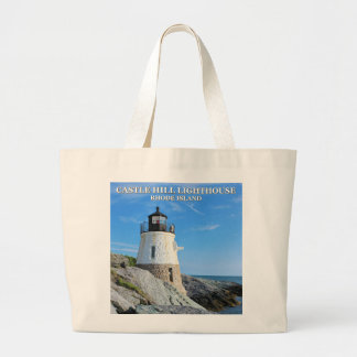 Castle Hill Lighthouse, Rhode Island Large Tote Bag