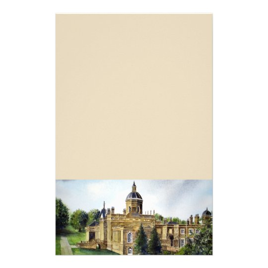 Castle Howard North Yorkshire Watercolor Painting Stationery