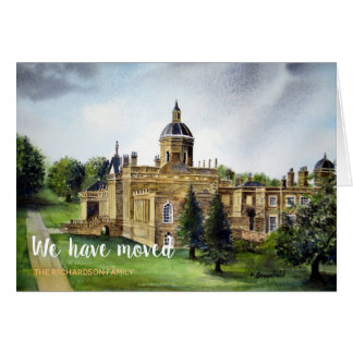 Castle Howard Yorkshire New Home We Have Moved Card