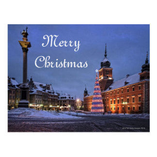 Castle in Christmas time Postcard