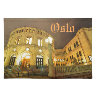 Castle in Oslo, Norway at night Placemat