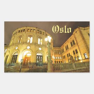 Castle in Oslo, Norway at night Sticker