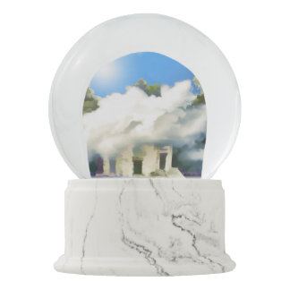 Castle In The Clouds Snow Globe