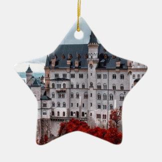 Castle in the Fall Ceramic Ornament