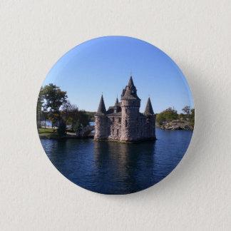 Castle in water 2 inch round button