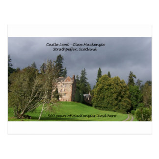 CASTLE LEOD - Scotland MacKenzie Clan Postcard