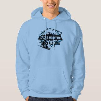 Castle Mountain Alberta guys ski logo hoodie