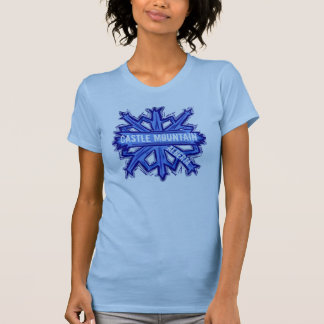 Castle Mountain Alberta ladies snowflake tee