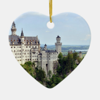 Castle Neuschwanstein Bavaria Germany Ceramic Heart Ornament