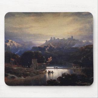 Castle of Alcala De Guadaira by David Roberts Mouse Pad