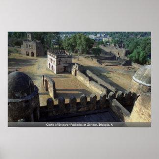 Castle of Emperor Fasiladas at Gondar, Ethiopia, A Poster