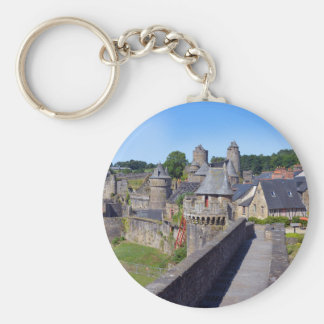 Castle of Fougères in France Keychain