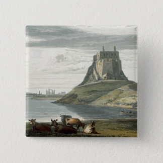 Castle on Holy Island, Northumberland, from 'A Voy 2 Inch Square Button