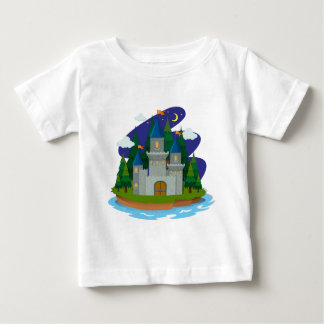 Castle  on the island baby T-Shirt
