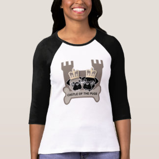 castle or the pugs shaped ladies shirt