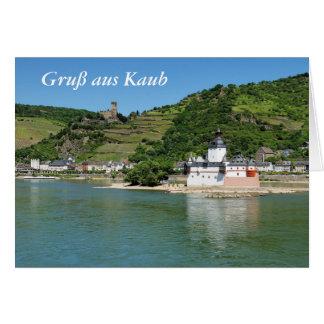 Castle Palatinat count stone with Kaub Card