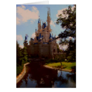 Castle pastel drawing card