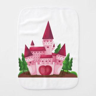 Castle princess burp cloth