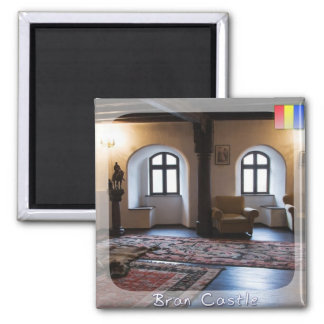 Castle room square magnet
