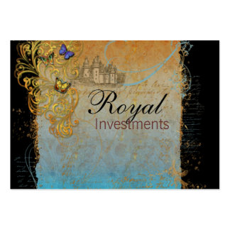 Castle Royal French Scrolls Business Cards