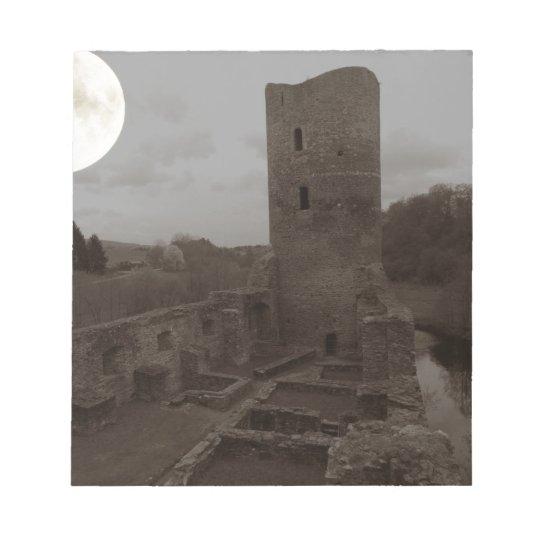 castle ruin notepad
