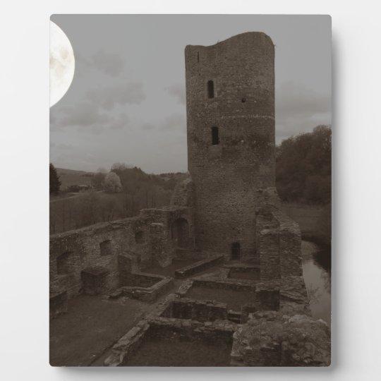 castle ruin plaque