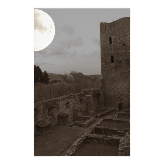 castle ruin stationery