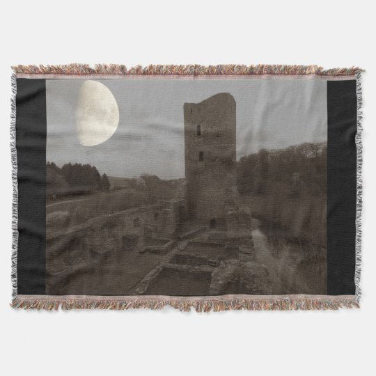 castle ruin throw blanket