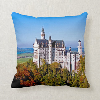 Castle (Schloss) Neuschwanstein 16x16 Pillow
