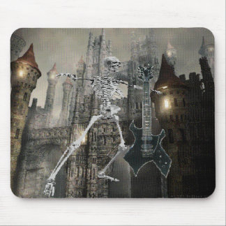 Castle Skeleton with Guitar Mousepad