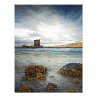 Castle Stalker, Scotland Customized Letterhead