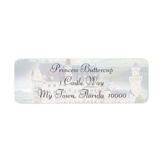 Castle Theme Wedding Mailing Labels