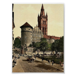 Castle tower and Emperor William's Monument, Konig Poster