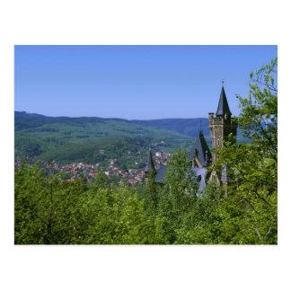 Castle, Wernigerode, Saxony Anhalt, Germany Postcard