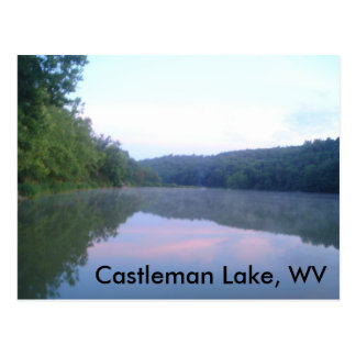 Castleman Lake, WV Postcard
