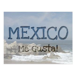 Castles in the Sand; Mexico Souvenir Postcard