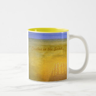 Castles in the Sand...mug Two-Tone Coffee Mug