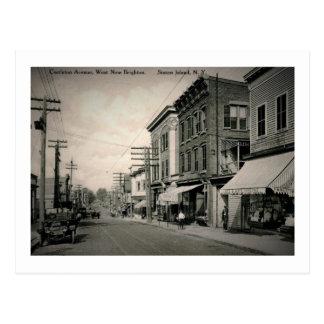 Castleton Ave., Staten Island, New York Vintage Postcard