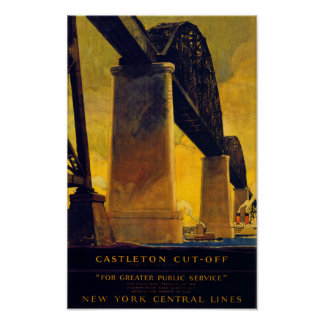 Castleton cut off New York Vintage Poster