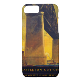 Castleton cut off New York Vintage Poster iPhone 7 Case