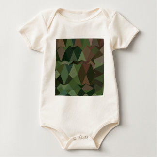 Castleton Green Abstract Low Polygon Background Baby Bodysuit
