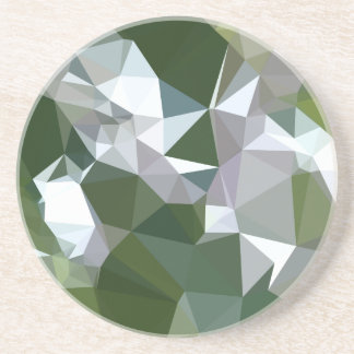 Castleton Green Abstract Low Polygon Background Beverage Coasters