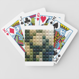 Castleton Green Abstract Low Polygon Background Bicycle Playing Cards