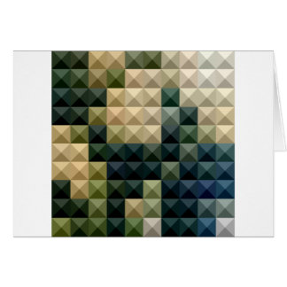 Castleton Green Abstract Low Polygon Background Card