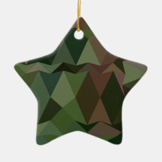 Castleton Green Abstract Low Polygon Background Ceramic Star Ornament