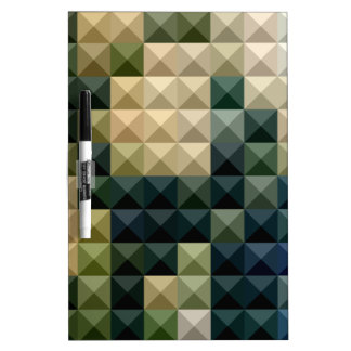 Castleton Green Abstract Low Polygon Background Dry Erase Boards